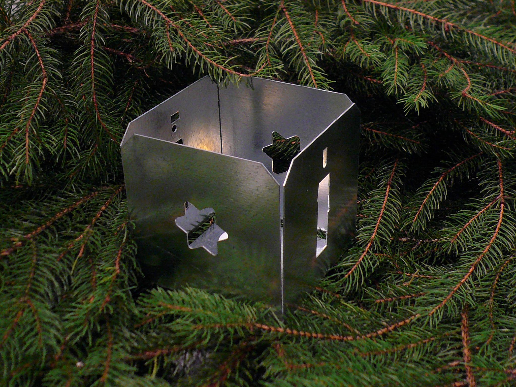 Windlicht weihnachten kerze deko motive tanne schnee for Windlicht gross